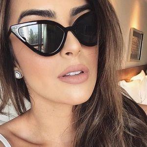 Abi- Cat Eye Slim Chic Sunglasses